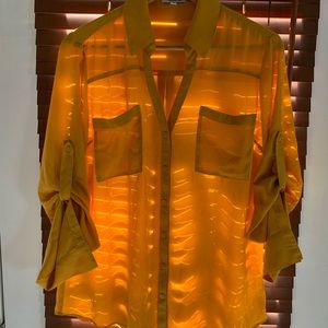 Large Express Portofino Dark Yellow Blouse